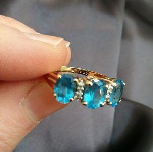 Jewelry - 14k 3 stone topaz ring